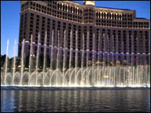 Bellagio Hotel and Casino fountains