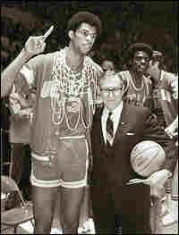 Lew Alcindor, aka Kareem Abdul-Jabbar, and John Wooden