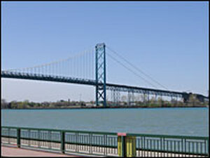 The Ambassador Bridge at Daytime