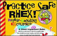 A Centers for Disease Control and Prevention poster on reptile pet safety.