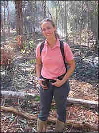 Jennifer Balch of Yale University  stands in the Amazon forest.