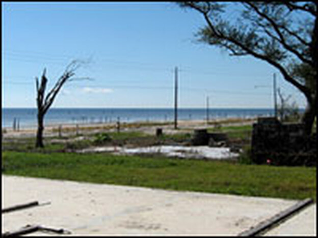 This property, like many bare foundations that remain along Beach Boulevard in Bay St. Louis, Miss., could be included in the proposed buyout along the Mississippi coast.