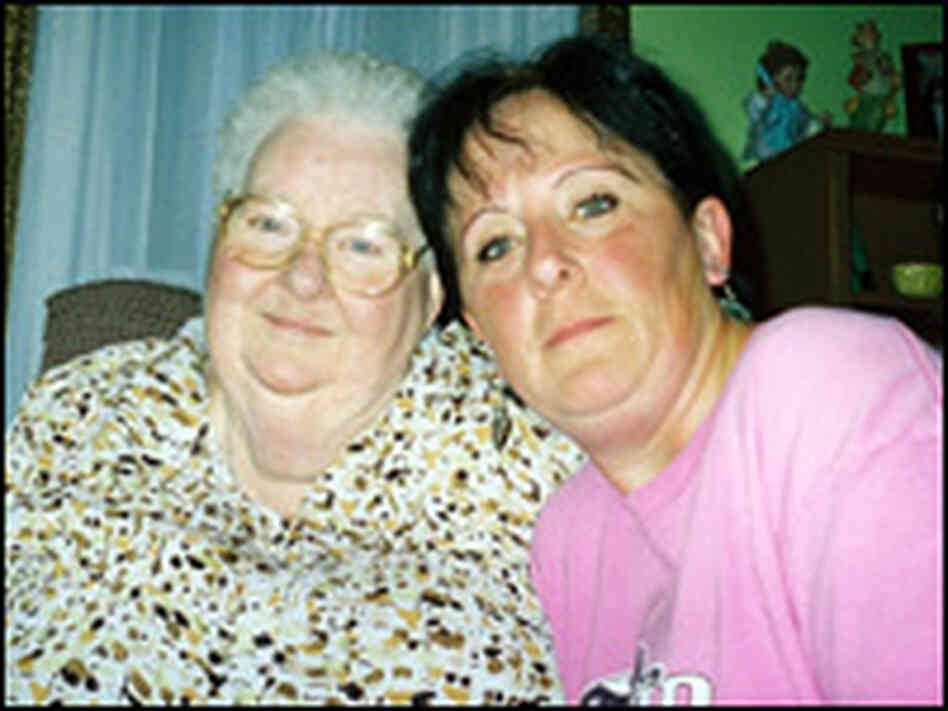 Geri Punteney and her mother in their home in Oelwein, Iowa