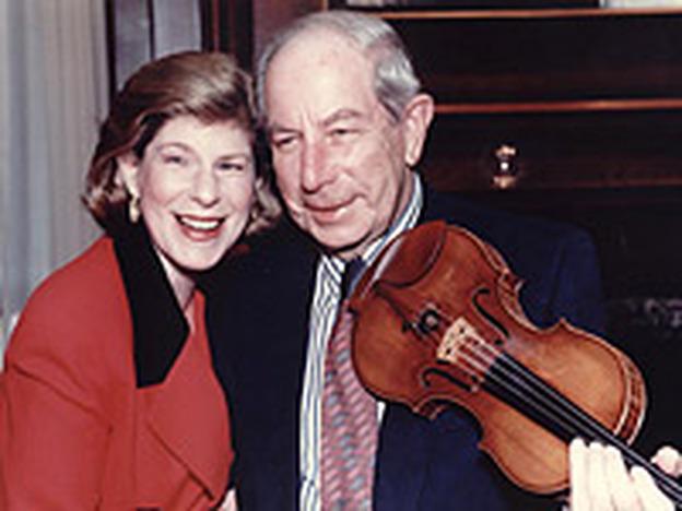 NPR's Legal Affairs Correspondent Nina Totenberg, with her father Roman.