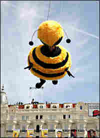 Jerry Seinfeld flying in bee suit
