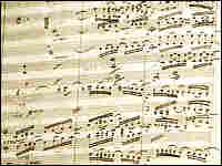 Manuscript of Beethoven's Symphony No. 9