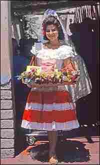 A greeter at the Casa De Frito at Disneyland.