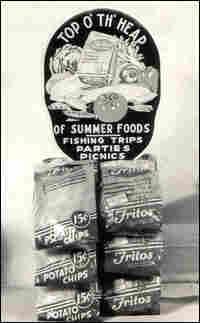 Fritos advertising clip rack
