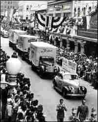 A 'Frito Fleet' on parade in San Antonio, Texas.