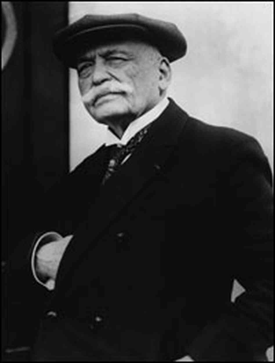 The French chef Auguste Escoffier in Paris.