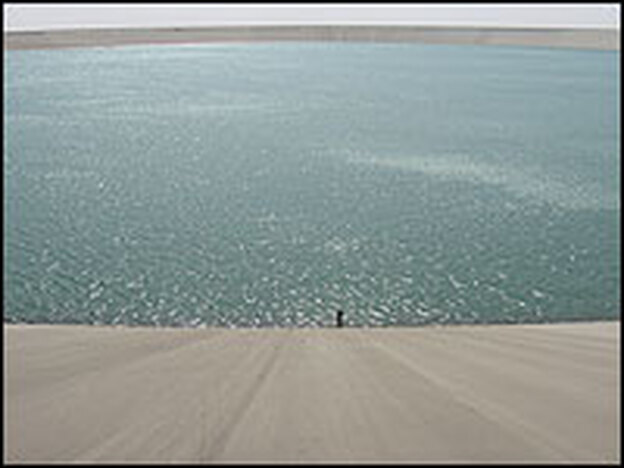 The recently opened Grand Omar Mukhtar Reservoir is touted as the world's second largest man-made concrete reservoir.