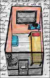 A drawing by inmate Herman Wallace of his cell in solitary confinement at Angola.