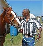Israel Ducre and a horse.