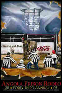 Every year, inmates compete to create the poster for the Angola Prison Rodeo.
