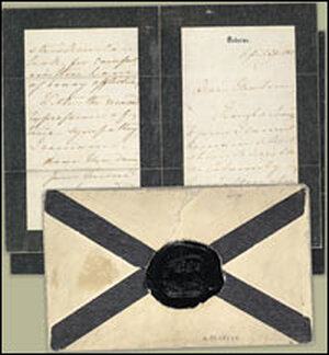A sympathy letter from Queen Victoria to Mary Todd Lincoln after Abraham Lincoln's assassination.