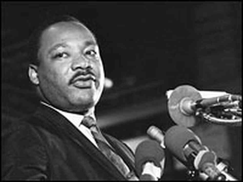 The Rev. Martin Luther King Jr. delivers his last public address, at the Mason Temple.