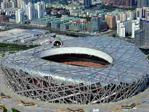 Beijing's National Stadium, known as the Bird's Nest