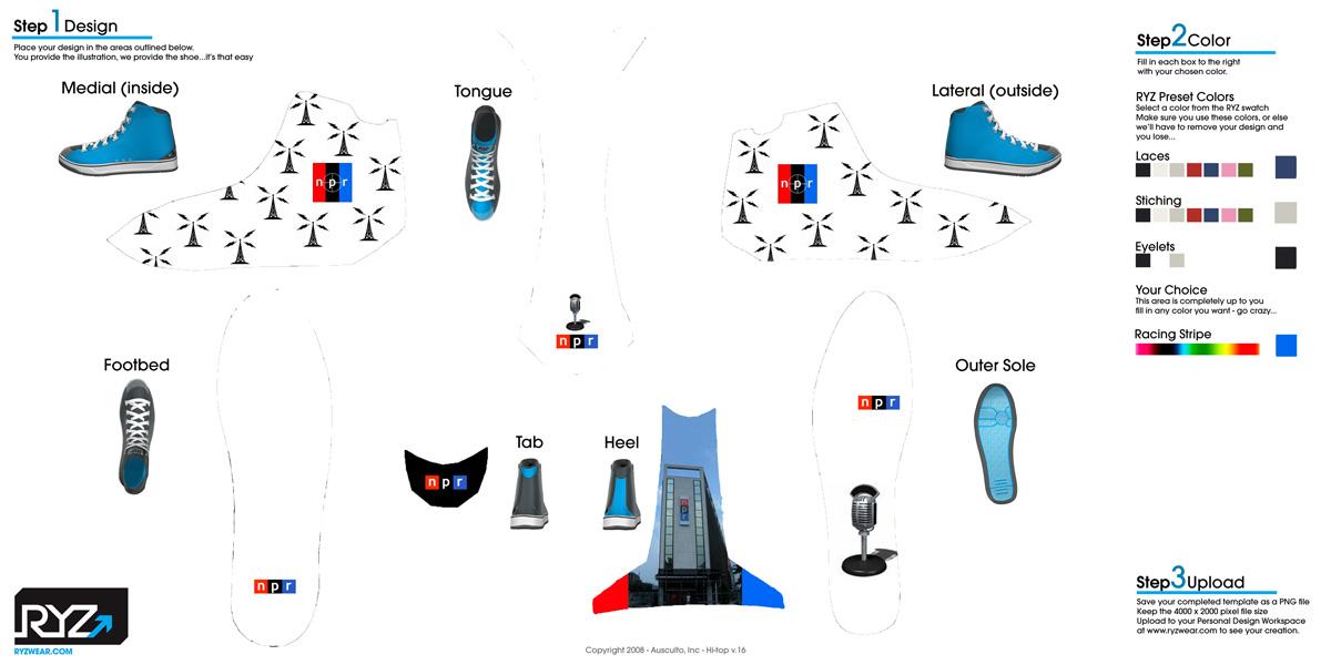 NPR sneaker design template