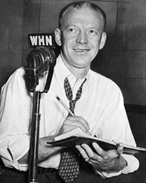 "Sportscaster Walter ""Red"" Barber, in 1949."