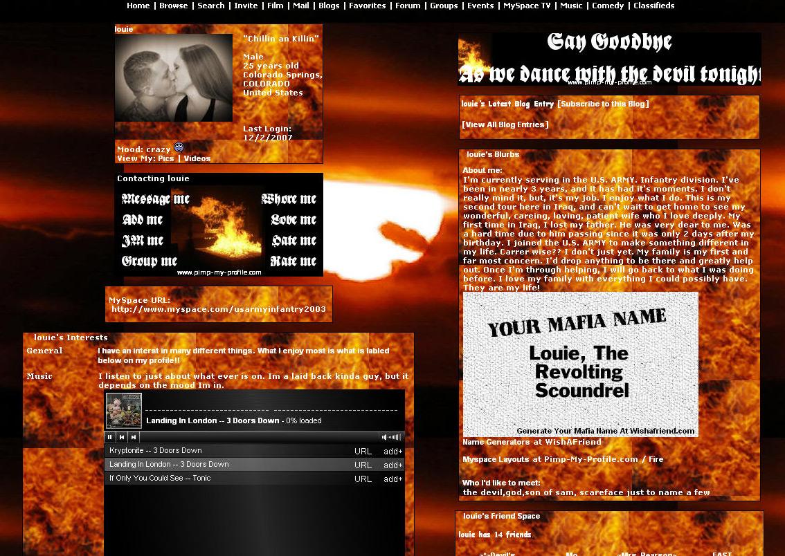 NPR: Louis Bressler's MySpace Page