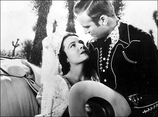 Lupita Tovar and Gene Autry in 'South of the Border'