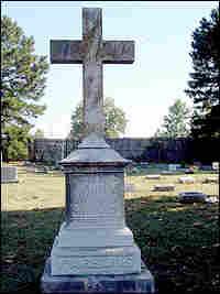 grave stone in Elmwood Cemetery