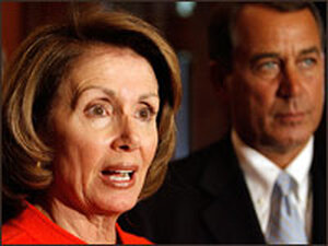 House Speaker Nancy Pelosi and House Minority Leader John Boehner