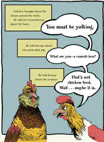 'Chicken thought about the dream around the cluck.'