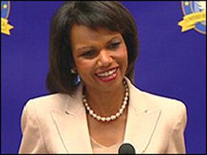 Secretary of State Condoleezza Rice.