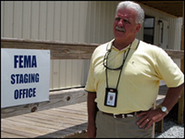 "Mike Miller, FEMA's field coordinator in Mississippi, says that although some relate travel trailers to concerns over formaldehyde, he sees the units as ""a cool, dry, clean place for a family to live until they can get established."""
