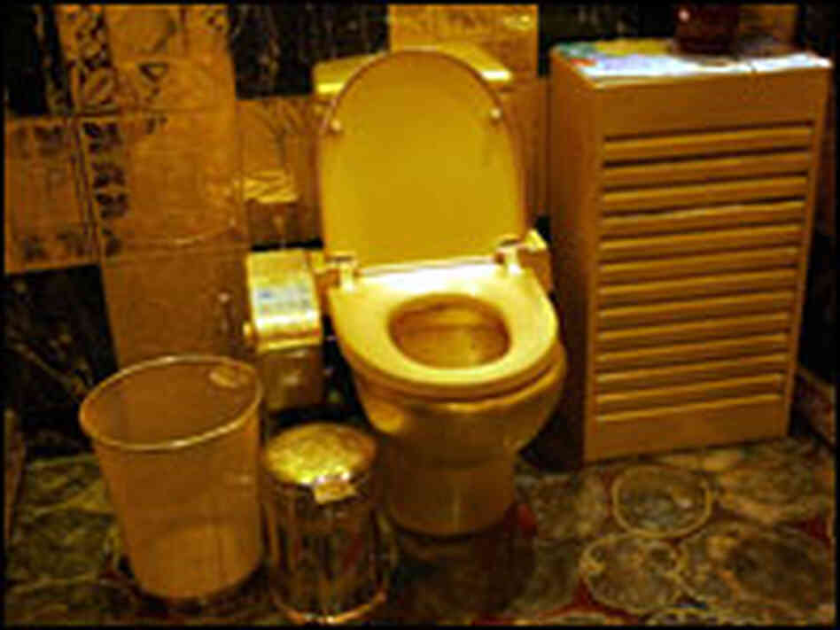 hong kong jeweler clings to his golden toilet npr. Black Bedroom Furniture Sets. Home Design Ideas