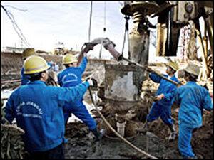 Construction workers in Khartoum