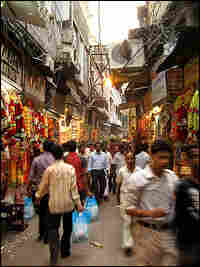 The streets and alleys of Old Delhi are narrow, even for the new 5-foot-wide Nano.