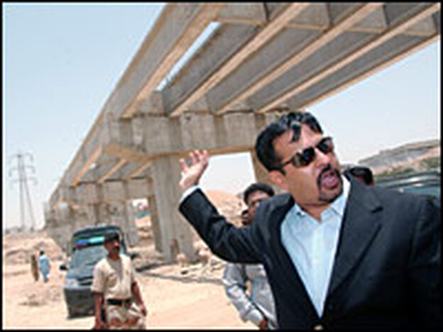 One of Karachi Mayor Syed Mustafa Kamal's initiatives since taking office in 2006 has been to speed up construction of the city's highways.