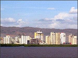 Mumbai skyline.