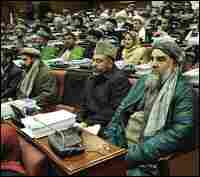 Afghanistan's parliament in session.