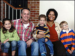 Blake Althaus (right) and his family.