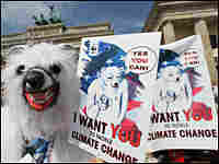Environmentalists at a July demonstration in favor of climate protection.