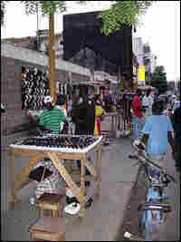 Street vendors in Dakar