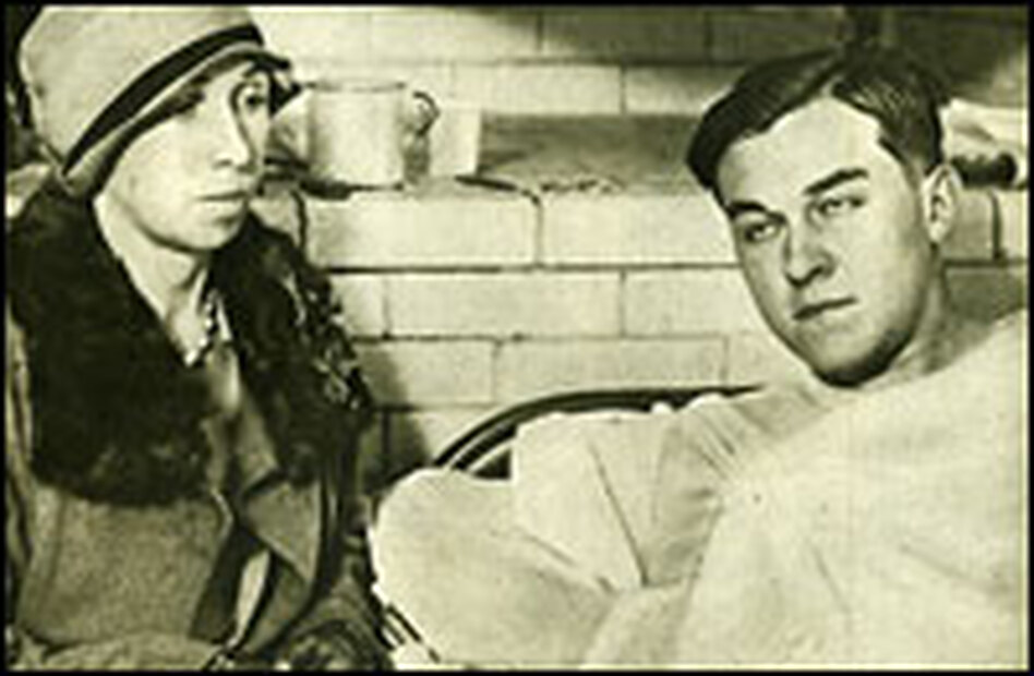 Mother and murderer: Christine Collins, whose son disappeared in 1928 and was never found, is pictured with Gordon Stewart Northcott, who may have killed him.