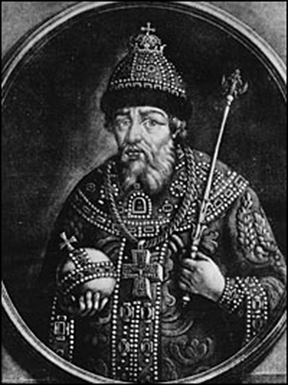 Ivan the Terrible, depicted here circa 1580, became czar of Russia in 1547.  He is among 12 finalists for the title of greatest Russian in history.