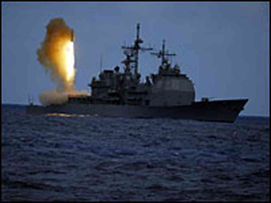 Missile launched from Aegis cruiser