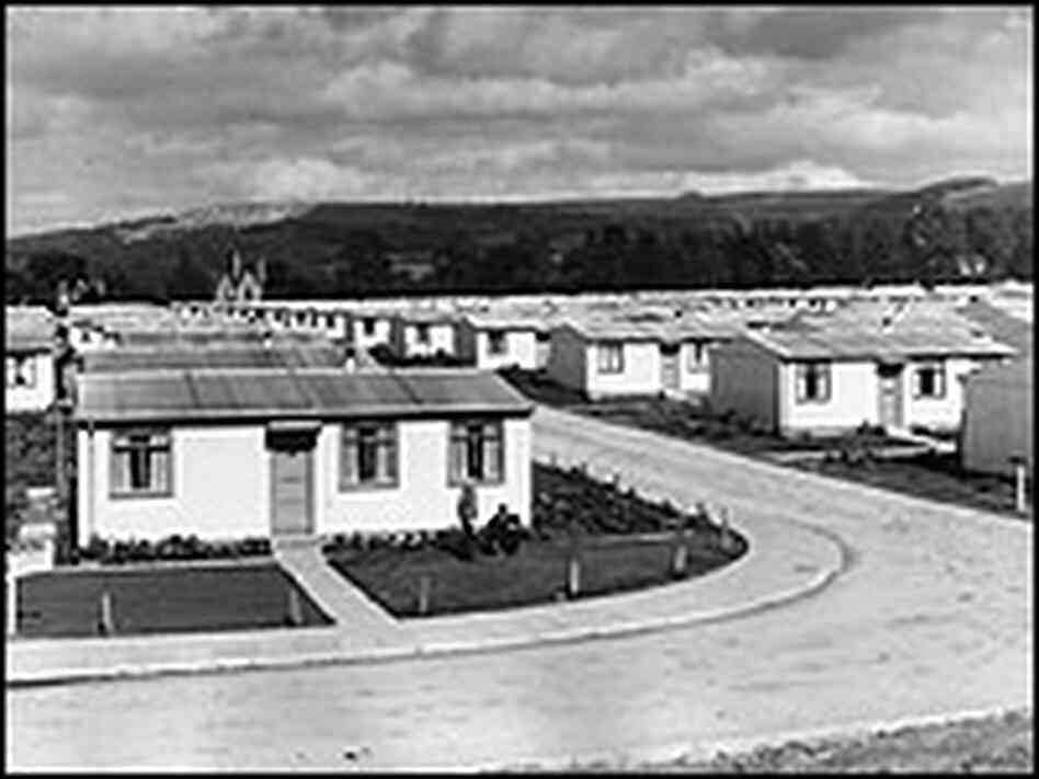 A prefab housing estate built in the 1940s