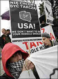 Protesters in Slupsk