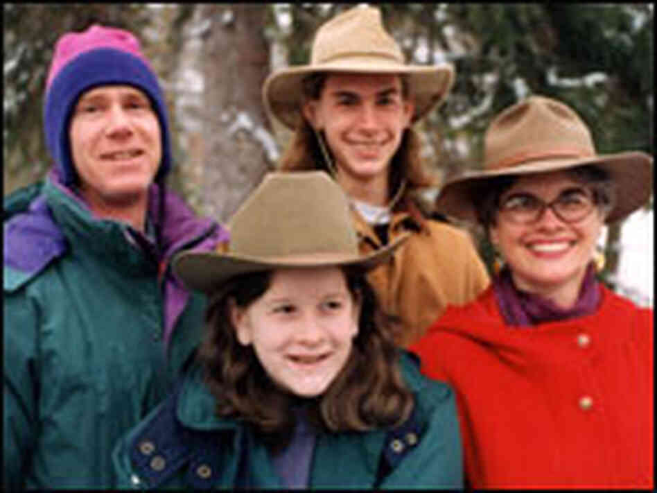 Catherine Royce with her family in 1995