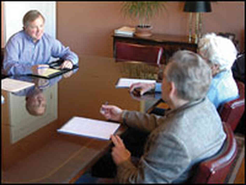 Two potential clients seek to learn more about elder mediation.