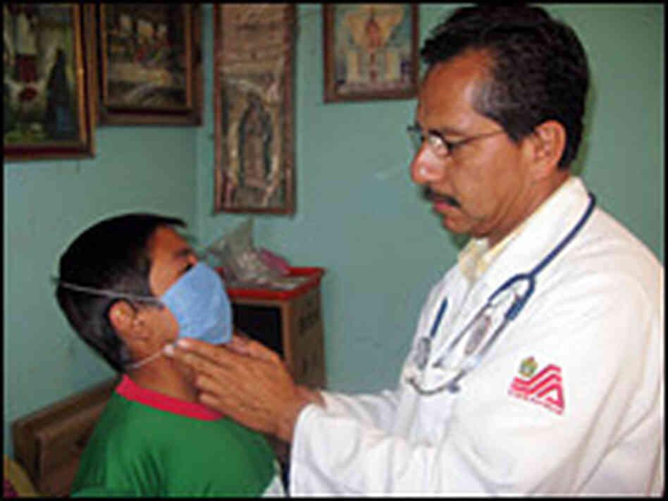 Visits Jorge Trinidad Garcia  At His Home In La Gloria Mexico