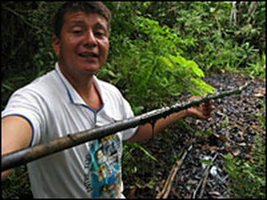 Donald Moncayo is an activist who works with the farmers and Indians who are suing Texaco.