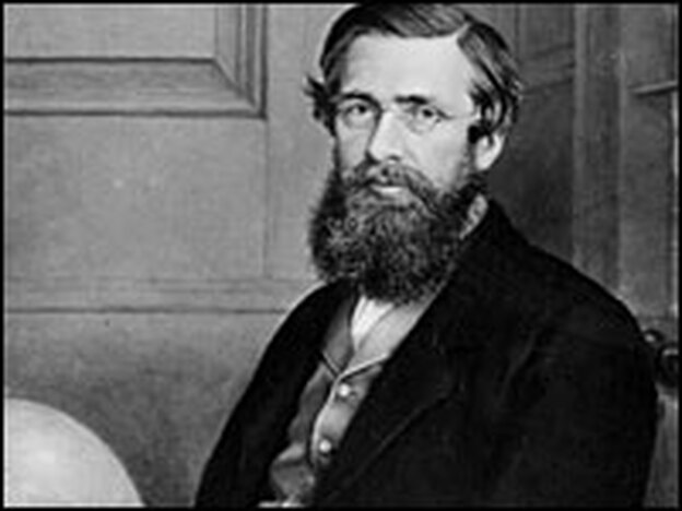 Alfred Russel Wallace, circa 1860, was a Welsh naturalist and explorer who, independently of Darwin, propounded the theory of evolution by natural selection. (Hulton Archive/Getty Images)