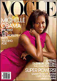 First lady Michelle Obama graces the March cover of 'Vogue'